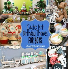 Here is a round up of 8 cute boy birthday party themes from around the web. These first birthday themes are cute and over the top for your baby boy! 1st Birthday Party Decorations, Birthday Themes For Boys, Baby Boy First Birthday, Boy Birthday Parties, Birthday Fun, Birthday Ideas, Baseball Birthday, Kid Parties, Birthday Wishes