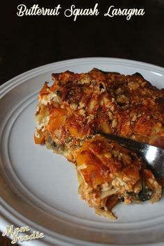 Butternut Squash Lasagna ~ a slightly altered version of the recipe from @Cooking Light