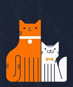 Find images and videos about cat, drawing and illustration on We Heart It - the app to get lost in what you love. Crazy Cat Lady, Crazy Cats, I Love Cats, Cool Cats, Silkscreen, Plakat Design, Gatos Cats, Photo Chat, Here Kitty Kitty