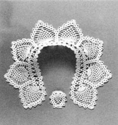 Crochet Lace Patterns, Crochet Collar Patterns, Peter Pan Collar Vintage Crochet Pattern PDF $