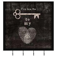 Key To My Heart Canvas Giclee Print at Joss and Main Image Key, Heart Canvas, Thing 1, Key To My Heart, Heart Tat, Heart Charm, Joss And Main, Love Of My Life, True Love