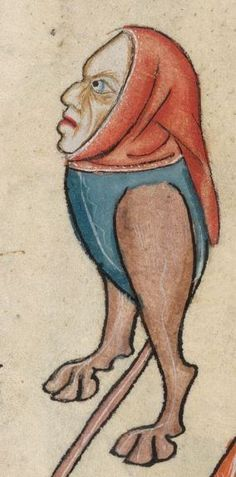 Detail from The Luttrell Psalter, British Library Add MS 42130 (medieval manuscript,1325-1340), f60r