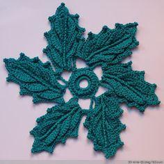 Crochet Knitting Handicraft: Unit Flowers