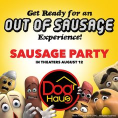 It's a mouth watering friendship! Dog Haus has teamed up with Sony Pictures & we have a lot in store for you! The Naughty Dog, Sweepstakes, Give Aways & more! Follow us @DogHausDogs on IG, FB and Twitter.   Sausage Party Movie | Seth Rogen | James Franco | Kristen Wiig | Bill Hader | Jonah Hill | Micheal Cera | Danny Mcbride | Craig Robinson | Paul Rudd | Nick Kroll | David Krumholtz | Edward Norton | Selma Hayek | The Absolute Wurst