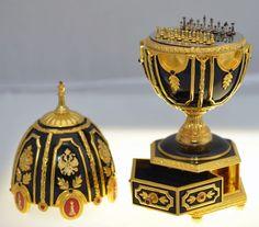 Xadrez em ovo de ouro Fabergé