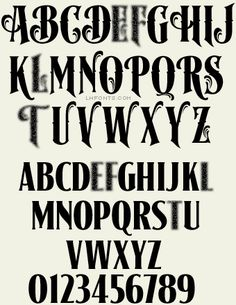 Superb old-fashioned lettering from sign artist  Dave Correll. Regular style features plain caps on the uppercase keys with lowercase letters on the lowercase keys and a new Inlay version. Fancy style has special ornamental caps on the uppercase keys and small caps on the lowercase keys.