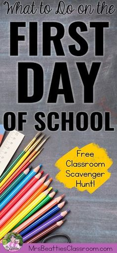 Planning for the first day of school is a challenge when you are a new teacher. Take a look at how I organize my first day: Teaching classroom routines and expectations, ice breaker getting to know you activities, character education, and grab a FREE editable classroom scavenger hunt!