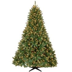 Pre-Lit Artificial Christmas Tree | Aspen Spruce Pre-Lit Artificial Christmas Tree - American Sale