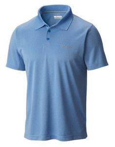Columbia New Utilizer Short-Sleeve Polo Shirt for Men - Pacific Blue Heather - XL