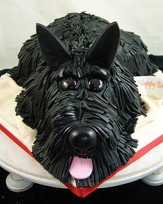 Scottish Terrier Dog Cake Rescue Dogs Custom Birthday Cakes