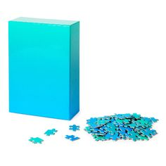 Test your eye for color with this 500-piece puzzle, showcasing an ombre of blue and turquoise.