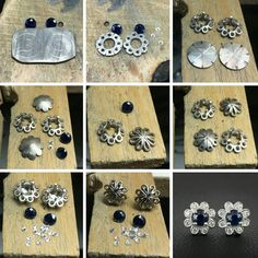 From the workshop, creating a very special pair of earrings. Incorporating elements of her engagement and wedding rings, the groom had a fantastic idea to surprise his bride. Congratulations Jess and Mitchell! #harlequinjewellers #bespokeearrings #married