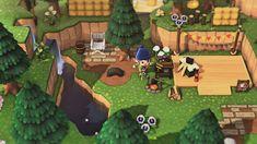 Animal Crossing Guide, Animal Crossing Qr Codes Clothes, Ac New Leaf, Cute Games, Island Design, Animal Games, Campsite, Decoration, Custom Design