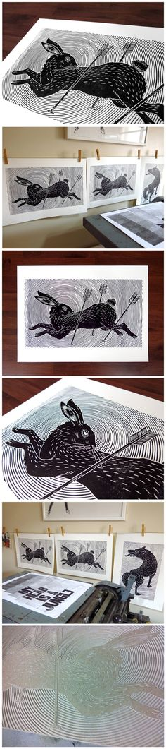 Running Rabbit by Meriç Karabulut, via Behance