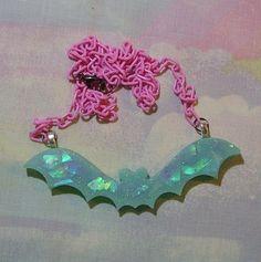 • ♥ • pastel goth jewelry, creepy cute jewelry, lolita jewelry, pop kei, halloween jewelry, bubble goth jewelry, bat necklace • ♥  https://www.etsy.com/shop/starlightsparkles