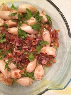 Baby Calamari with Garlic, a Southern Spanish traditional dish or tapa, easy and quick to make, and very delicious. Whole30.