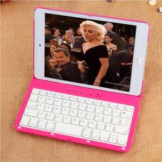 41.66$  Watch now  - New Arrive Ultra Thin Rotating Keyboard Flip Stand  Smart Cases For Apple ipad mini 4 With Wireless Bluetooth Keyboard