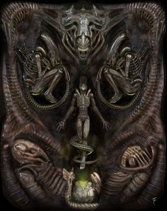"""""""Aliens"""" , El Morador de Sueños on ArtStation at https://www.artstation.com/artwork/6eGDr"""