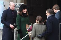 Crown Princess Victoria and Prince Daniel, right, accompanied William and Kate on their vi...