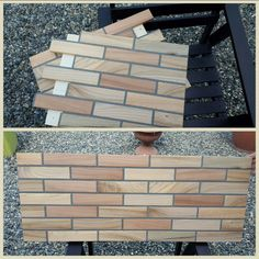 brick wood paneling by Claudio Leoncini.