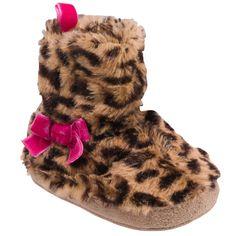 Cheetah Fur Slippers | Baby Girl Accessories Shop