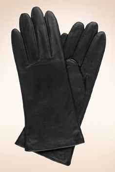 Leather gloves lined with cashmere, Marks & Spencer (£35)