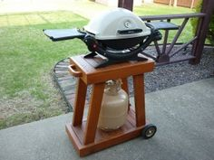 Weber Q Rolling Cart publichtml Grill Stand, Grill Cart, Table Top Grill, Grill Table, Webber Bbq, Small Grill, Barbecue, Portable Grill, Built In Bbq