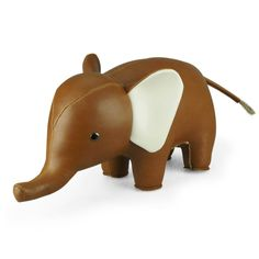 animaux ZÜNY serre-livre en similicuir, objet déco éléphant http://www.designers-avenue.com/fr/486-zuny