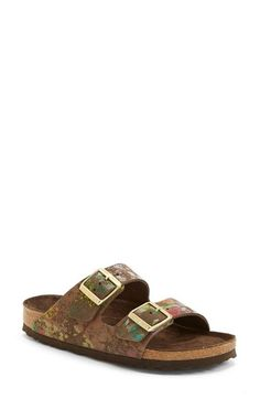 Birkenstock 'Arizona' Soft Footbed Printed Leather Sandal (Women) available at #Nordstrom