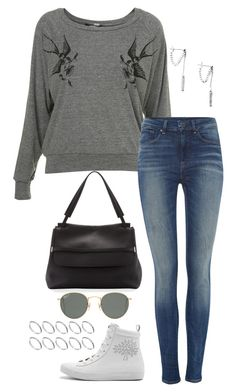 """""""Untitled #3180"""" by meandelstyle ❤ liked on Polyvore featuring Illustrated People, G-Star, Mulberry, The Row, Ray-Ban and ASOS"""
