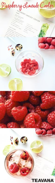 Teavana's Raspberry Limeade Cooler is the perfect summer cocktail. Combine gin, ice and chilled Raspberry Limeade tea in a cocktail shaker and shake well. Muddle raspberries in a glass tumbler, add ice and pour your cocktail. Top it off with a drizzle of balsamic vinegar and a dash of lime zest. Cheers! Coffee Punch, Limeade Recipe, Healthy Drinks, Healthy Recipes, Tea Recipes, Recipies, Cocktail Shaker, Summer Cocktails, Balsamic Vinegar