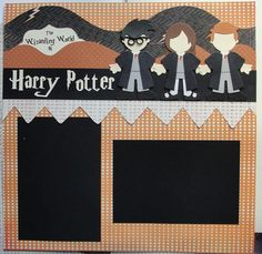 Harry Potter Scrapbook Layout 2 Pages 12 x 12 Handmade Wizarding World of Harry Potter