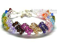 Luxurious Purple Shade Swarovski Crystal Bracelet by by candybead