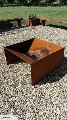 ***HUGE 1M x 1M CorTen Steel fire pit*** - http://www.training-a-puppy.info/huge-1m-x-1m-corten-steel-fire-pit/
