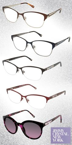 a274e435be0b Shimmer and Shine in Alluring Jimmy Crystal New York Frames