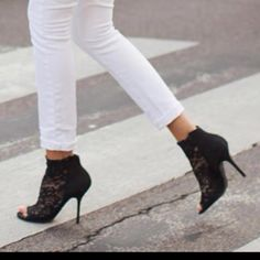 Lace booties