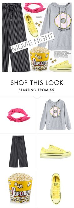 """Bring the Popcorn: Movie Night"" by pokadoll ❤ liked on Polyvore featuring Converse and Hedi Slimane"