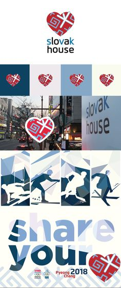 Branding of Slovak House in Pyeongchang 2018 (including logo and all interior and exterior branding)