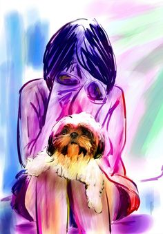Are logical thoughts obstacles? http://www.thesunthemoonthestarsandmaya.com/?p=2771   #Dog #Girl #consciouness #Mind #Art  Are you getting your daily meds (medicine for the mind, heart and soul)?