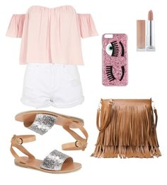 """pink"" by danielaprzhrtd on Polyvore featuring Topshop, River Island, Ancient Greek Sandals and Chiara Ferragni"