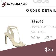 Asos heels White iridescent heels. Excellent condition. ASOS Shoes Heels
