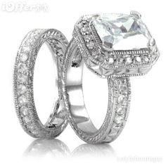 engagement + wedding rings.. love! :)