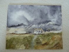 Painting: watercolour, storm