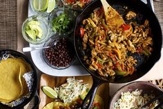 chicken fajita night by smitten kitchen. pinning for her pickled onion & her quick pico recipes