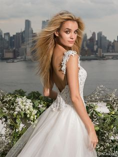 eve of milady fall 2016 bridal sleeveless thick embellished strap sweetheart neckline heavily embellished bodice elegant fit and flare wedding dress a  line overskirt chapel train (4352) bv