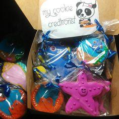 #FindingDory #mycookiecreations 18 galletas entregadas el pasado viernes!!! Otra clienta feliz!  #findingdorycookies #summercookies #findingnemo #Disney #disneycookies #cookies