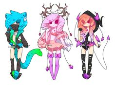 Adoptables Batch 19: CLOSED by Zombutts.deviantart.com on @DeviantArt