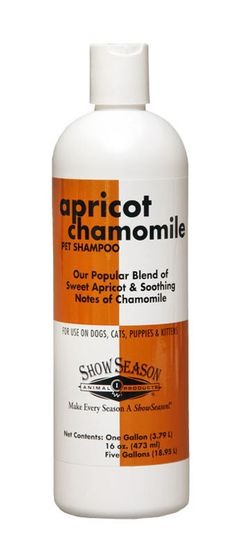 16 oz Apricot Chamomile Dog Shampoo