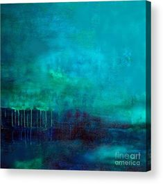 Abstract Landscape Painting, Blue Painting, Large Painting, Landscape Art, Landscape Paintings, Green Paintings, Art Paintings, Art Bleu, Ocean Art