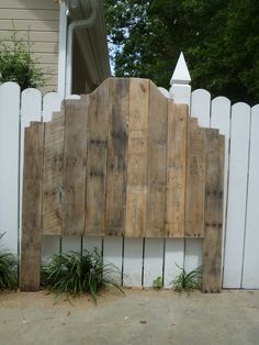 Shabby Chic pallet headboard - Full size. $225.00, via Etsy.